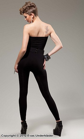 Tight jumpsuit utan axelband, 2